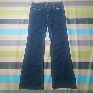 White House Black Market Trouser Leg Jeans